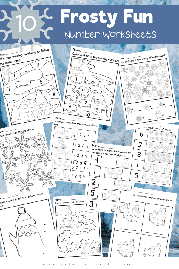 Our 10 Frosty Fun Number Worksheets are the perfect activity for winter days, and a great way of keeping preschool children excited about learning.