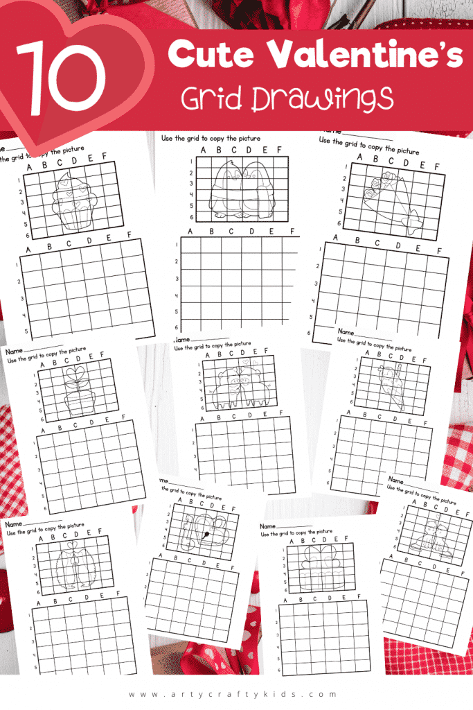 Download the 10 Cute Valentine's Grid Drawings for a love themed drawing challenge this Valentine's! Great for improving drawing skills.