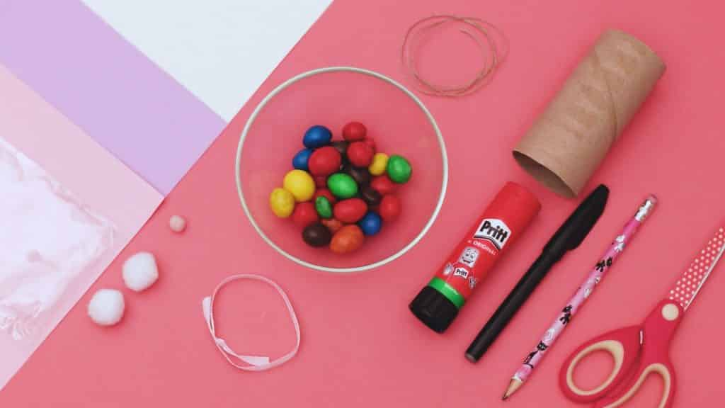 Gather the materials to make the Easter Bunny craft.