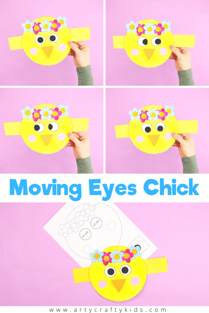 Moving Eyes Chick Craft - A fun and interactive craft for kids. A playful Spring craft that's perfect for story telling and inspiring imaginations.