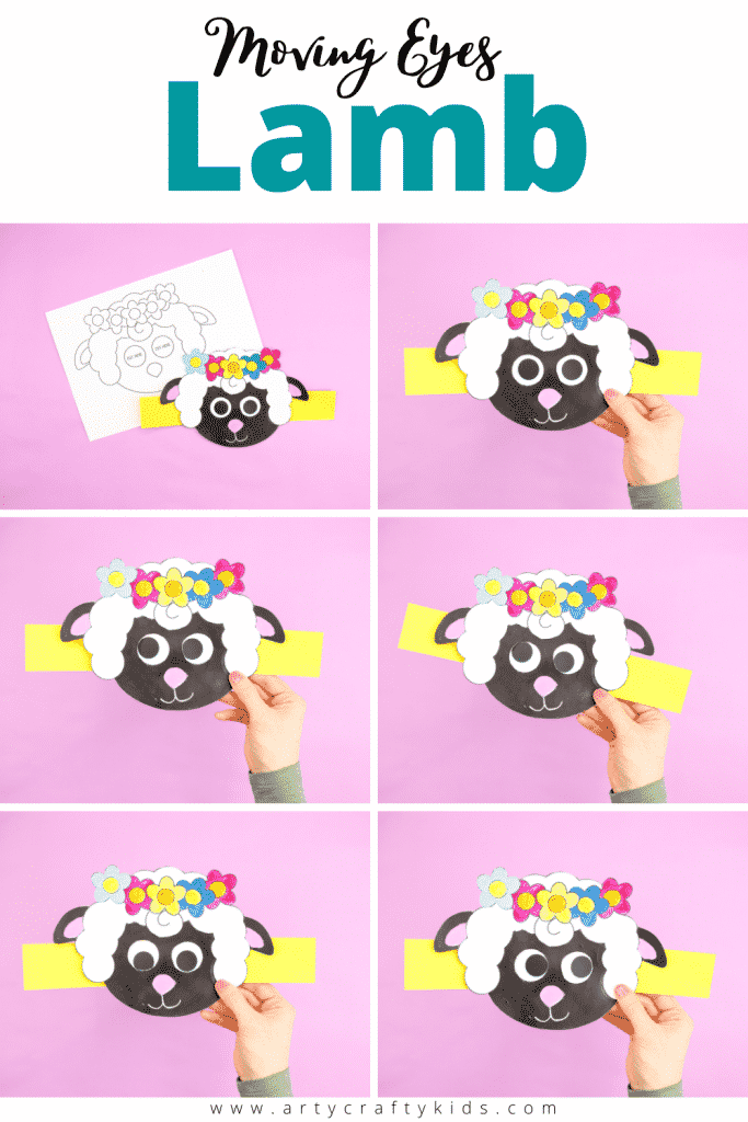 Welcome Spring with this super fun and easy to make Moving Eyes Lamb Craft. With its playful  elements, children will find delight in the crafts quirky and characterful eye movements; making it the perfect accompaniment to story-telling and play based learning.