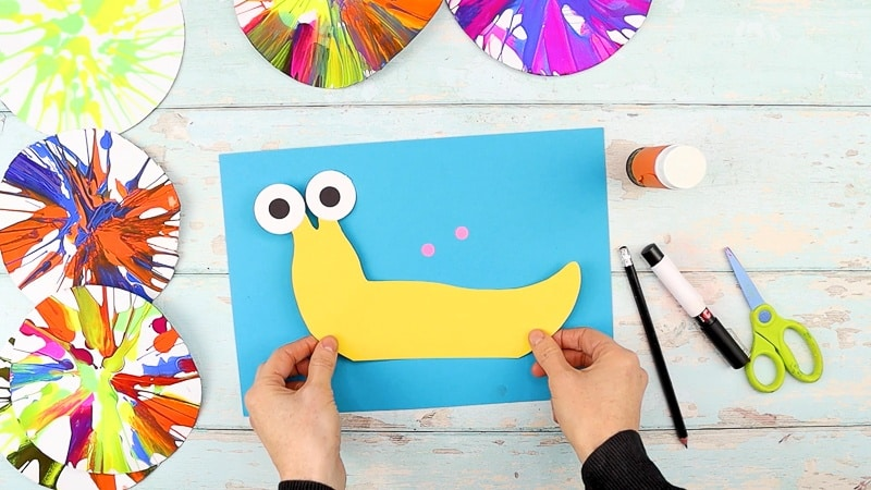 Draw a snail shape or use our snail template from the Arty Crafty Kids members area.