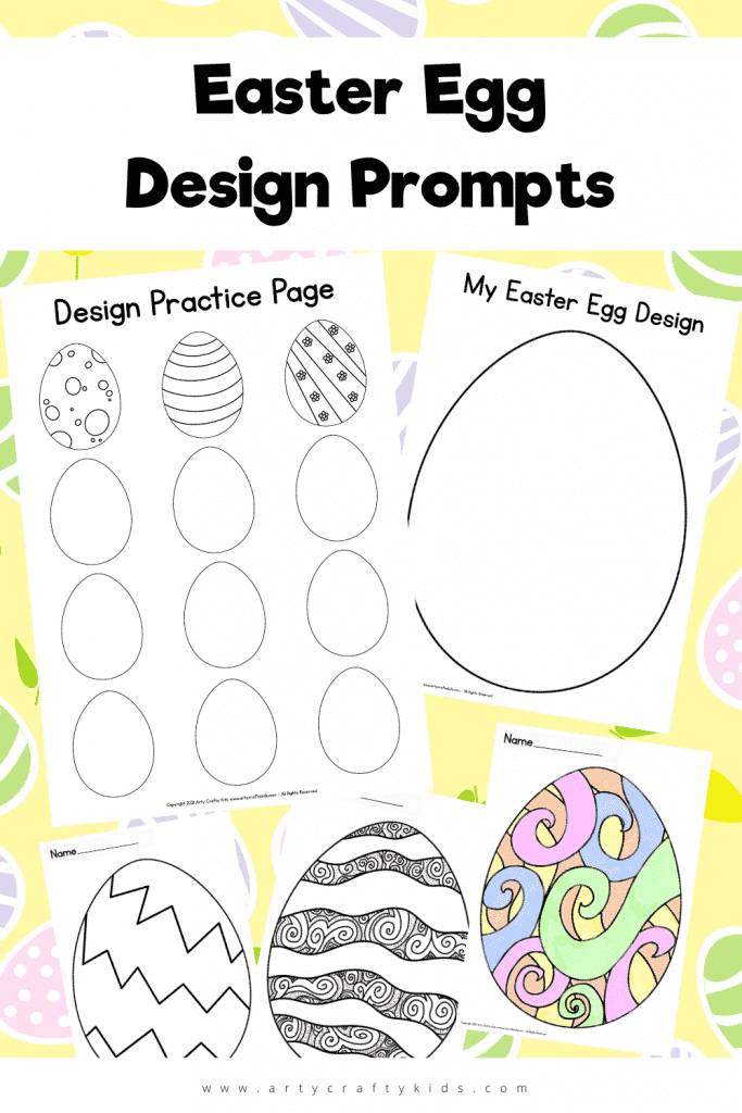 These Easter Egg Design Prompts are a great way to get imaginitive! Doodle your own Easter Egg Design and use them as decorations! Perfect for inspiration creativity in the very youngest of Arty Crafty Kids to the eldest. Download and print for classroom or home.
