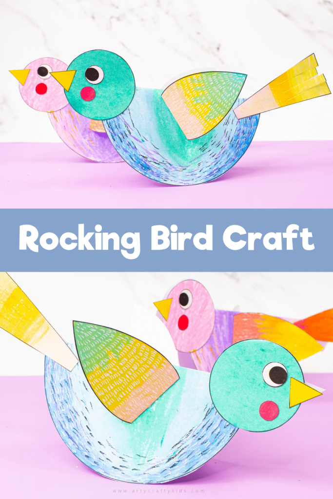 Craft meets Stem to create this engaging and easy to make Rocking Paper Craft for kids. Children will love the creative aspect of decorating their paper birds and assembling, like a puzzle to ensure the paper birds rock back and forth.