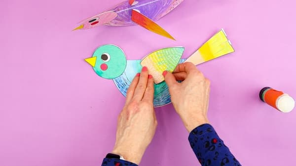 Image showing wings added to the paper bird.