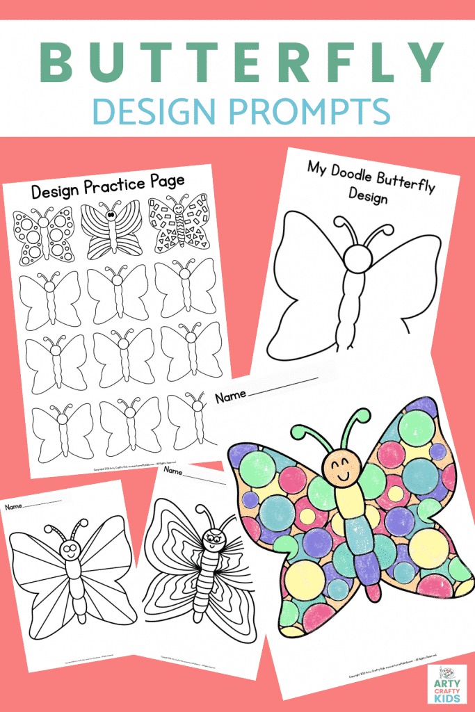 Butterfly Drawing Prompts for Kids - Practice symmetry with our printable butterfly design pack. Perfect for mini beast, insect and nature lesson plans.
