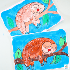 How to Draw a Sloth Step by Step tutorial for kids.