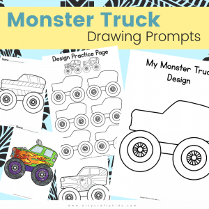 The best bit about designing your own Monster Truck is that the process extends beyond drawing a doodle or a patten on the side. Monster Trucks are jam-packed with personality and the design process should include oodles of creative thinking about their characteristics, talents and what the colors represent. They can take inspiration from popular monster trucks such as El Toro Loco, EartherShaker, Megladon etc and draw their very own Monster Jam contender.