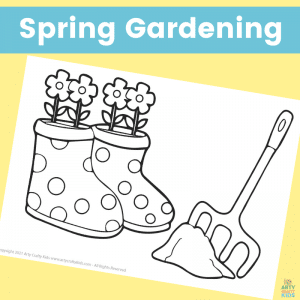 Free Spring Coloring Page for Kids