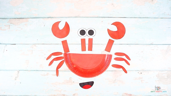 Cut Out the Crab Elements and Arrange.