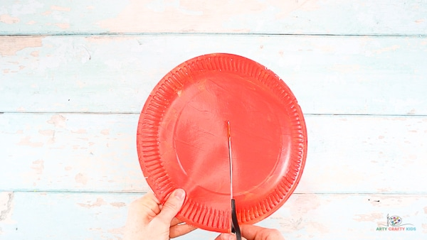 Paint the Paper Plate and Cut in Half