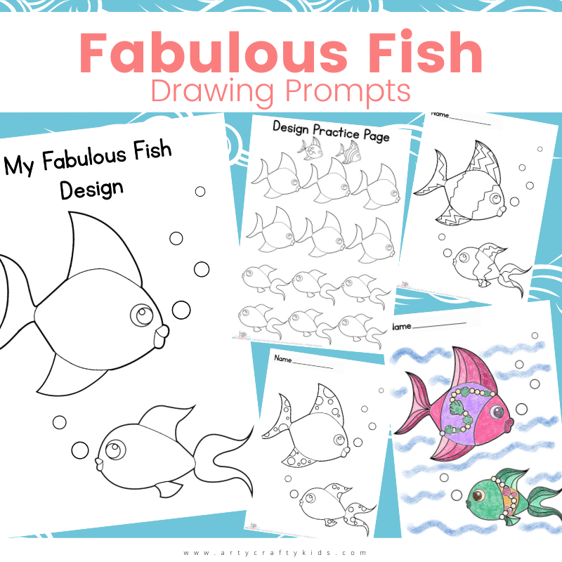 Fabulous Fish Drawing Prompts: Fish are an amazing source of inspiration for children; with their diverse shapes, colors and patterns, they make for an amazing subject to study in art from how to draw to design your own. To kickstart children's creativity, we have designed a collection of fabulous Fish Drawing Prompts.