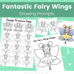 Fairy Wings Drawing Prompts for Kids