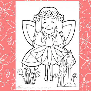 Flower Fairy Coloring Page for Kids