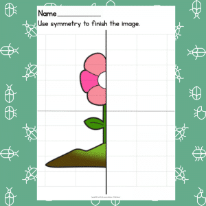 Flower Symmetry Drawing Prompt - Learning Symmetry - How to Draw