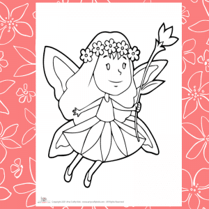 Flying Fairy Coloring Page