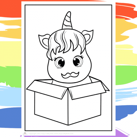 Unicorn in Disguise Coloring Page - part of a collection of 40 Unicorn Coloring Sheets.