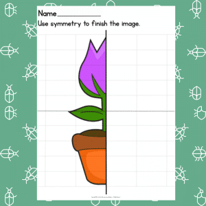 Tulip Symmetry Drawing Prompt - Learning Symmetry - How to Draw