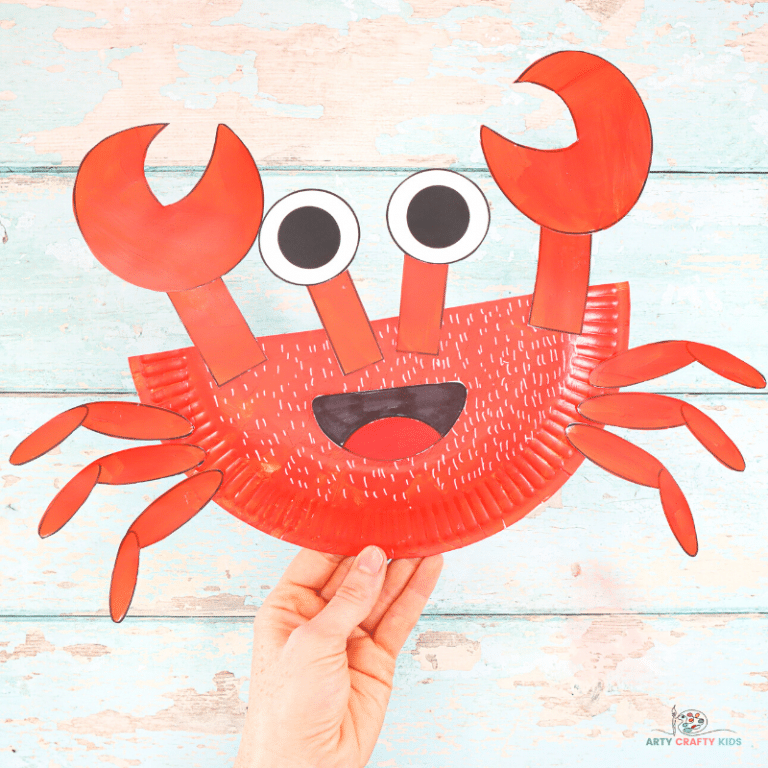 Learn how to make this Paper Plate Crab Craft with our easy to follow step-by-step tutorial. Crabs are the perfect subject for a Summer craft session with the kids and this super easy crab craft will delight Arty Crafty Kids with its easy to color and cut shapes.