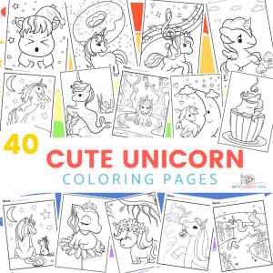Cute Unicorn Coloring Pages for Kids - 40 Page Unicorn Coloring Book featuring Baby Unicorn Coloring Sheets, Simply drawn Unicorn Coloring Sheets, Cute Unicorns and more!
