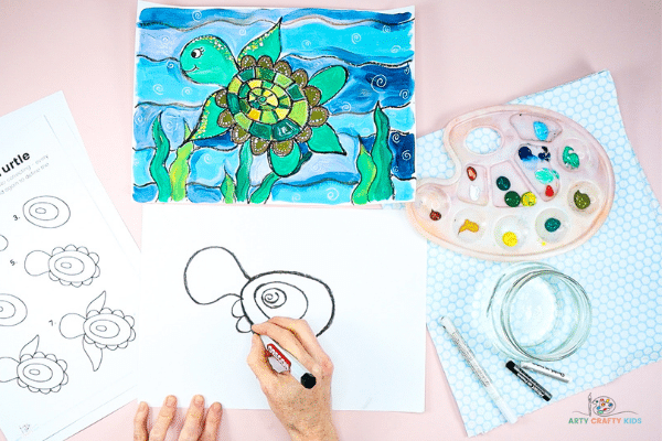 Draw the turtle a head.