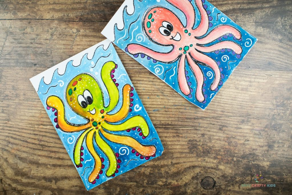 The how to draw an octopus tutorial is complete.