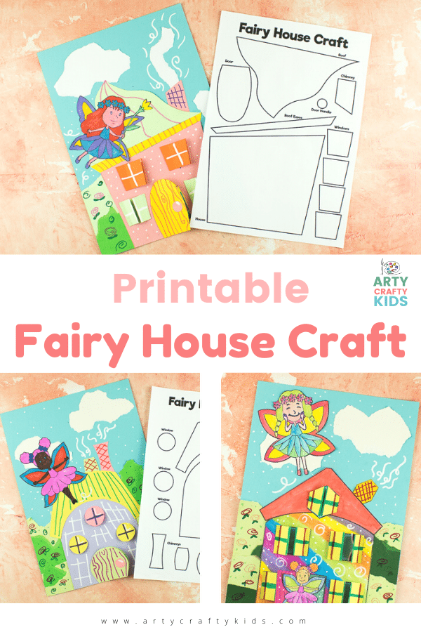 Download our Printable Fairy House Craft to create your own unique fairy home, with opening windows, doors and fun fairy guests!