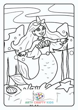 Mermaid Dancing Coloring Page