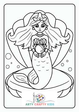 Mermaid and Swordfish Coloring Page