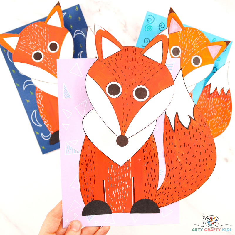 Learn how to make a 3D Paper Fox Craft. An easy and fun fox craft for kids to make this Autumn.