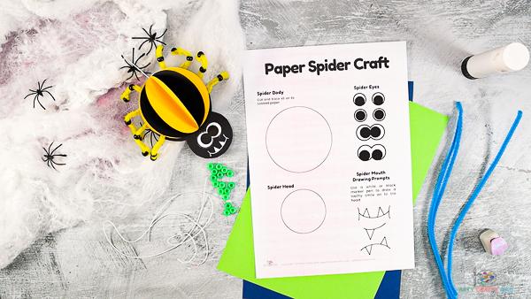Modèle d'artisanat d'araignée en papier 3D.