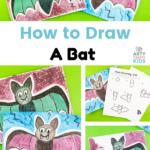 Apprenez à dessiner une chauve-souris avec notre guide étape par étape.  Ce guide de dessin de chauve-souris est parfait pour les enfants et les débutants qui utilisent des lignes simples pour dessiner un mauvais style de bande dessinée.  Un dessin de chauve-souris super facile, parfait pour Halloween !