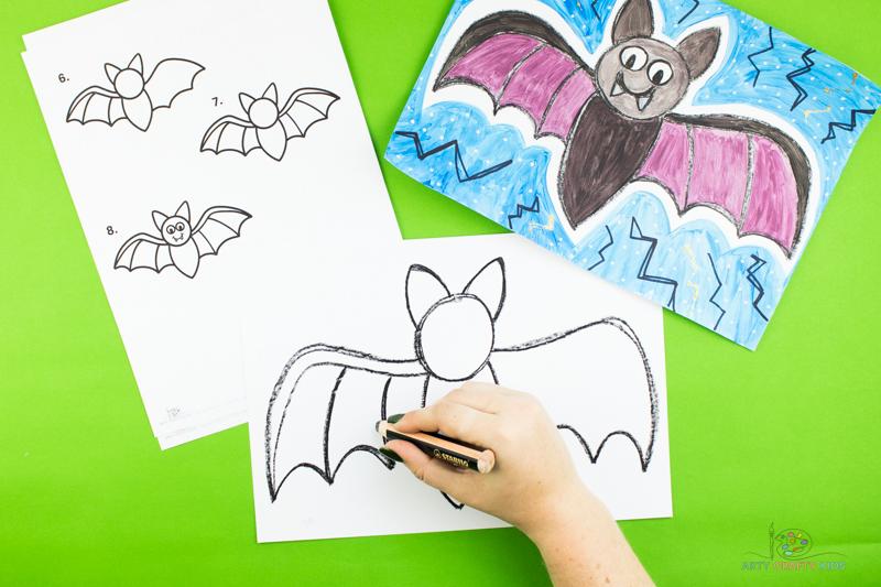 Dessinez maintenant quelques détails dans l'aile de la chauve-souris pour créer des segments palmés.
