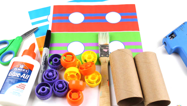 Paper Roll Race Cars - Craft Ideas for Kids - A cool car craft for kids using the humble toilet roll! #kidscraft
